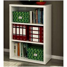 Libreria mobile in kit tre vani bassa ufficio laccata bianco LB7072 L80h113p36