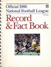 1986 OFFICIAL NFL FOOTBALL RECORD & FACT BOOK WITH RAMS DICKERSON ON COVER