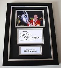 Phil Thompson Signed A4 FRAMED photo Autograph display Liverpool Football AFTAL