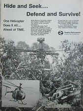 8/1980 PUB HUGHES HELICOPTERS HUGHES 500MD TOW MAST MOUNTED SIGHT ORIGINAL AD