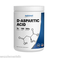 D-Aspartic Acid (DAA) by Nutricost - 300G; 100 Servings!