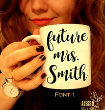 FUTURE MRS MUG Engagement coffee mug Bride to be gift engaged ring mug for tea
