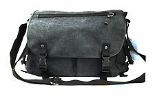 Black Canvas Carry Shoulder Messenger Bag can be used as a camera bag