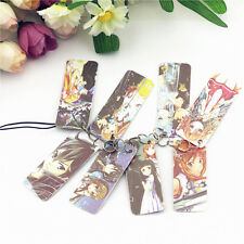 8pcs Cartoon Anime Sword Art Online Bookmarks card pendant keychain HQ pictures
