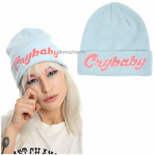 Melanie Martinez Cry Baby Crybaby Beanie Blue Watchman Knit Hat Cap Genuine NEW