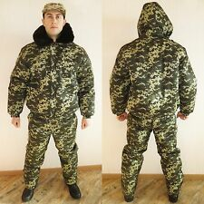 Winter Russian Ukraine Military Digital Camo Uniform Set. BDU Suit 5XL XXXXXL 60