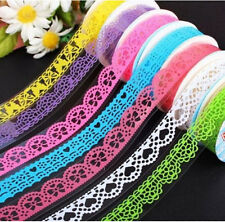 FD1044 Lace Rolls Deco Washi Tape Adhesive Scrapbooking Sticker ~Random~ 1PC:)