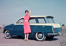 Saab 95 Prototype Concept Wagon 1950s 8 x 10 Press  Photograph