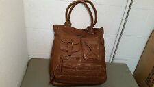 NEW BILLABONG Faux Leather  LAPTOP BOOK BAG TOTE SHOPPER