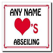 Love Heart Abseiling Personalised Coaster
