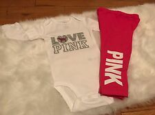 Baby Girl, Size 24 Months , Love Pink Outfit, 3pc Set, Clothes Lot