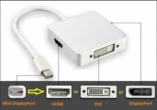 3 in 1 Mini Displayport to DVI HDMI Display Port Adapter Cable for Apple Macbook