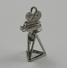 Motion Picture Camera Charm, Sterling Silver, .925, Pendant, #C199