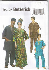 Tunic Caftan Pants Hat Headwrap Mens Womens Butterick Sewing Pattern XL XXL XXXL