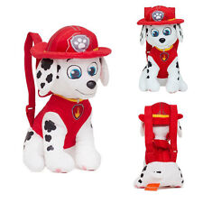 "Paw Patrol Marshall 13"" Full Body Stuffed Plush Backpack Bag Toy NEW"