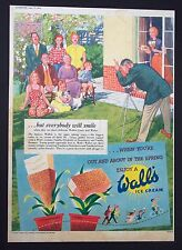 WALL'S ICE CREAM - Vintage Full Page Advert (April 17, 1954) Dairy*