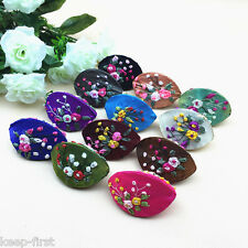 Lots 10PCS Mix Colors Handmade Embroidered Gauze Silk Ring Box Coin Bag Purse
