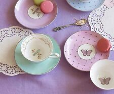 Bombay Duck Miss Darcy Bird, Teacup & Saucer in Mint Green, Tea Cup, Set, Party