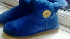 ugg boots mini bailey blue size 3.5