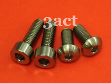 (M5 x 12mm - 2 M5 x 16mm - 2) 4 Titanium / Ti Bolts for Shimano XTR M970 Shifter