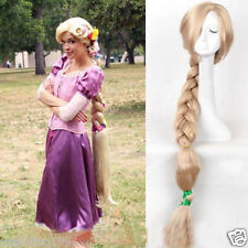 100cm Princess Tangled Rapunzel long Braid blonde cosplay wig For Women wig