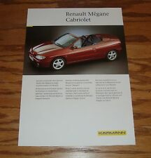 Original 1999 Karmann Renault Megane Cabriolet Fact Sales Sheet Brochure 99