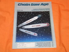 OLD VINTAGE CHAIN SAW AGE MAGAZINE JAN 1988 COLLECTABLE CHAINSAW RACING RESULTS