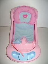 AMERICAN GIRL BITTY BABY TWINS DOLL BATHTUB BATH TUB SEAT PINK BLUE RETIRED RARE
