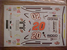 """1999 TONY STEWART #20 HOME DEPOT """"HABITAT FOR HUMANITY"""" 1/24 WATER SLIDE DECAL"""