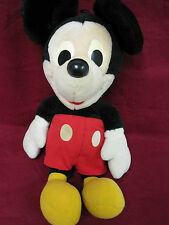 BIG DISNEY HASBRO SOFTIES PLUSH VINTAGE MICKEY MOUSE STUFFED ANIMAL YELLOW EYES