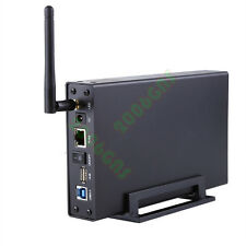 USB 3.0 WiFi SATA Hard Drive Enclosure HDD NAS Network Storage Cordless Wireless