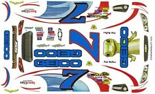 #7 Mike Wallace GEICO 2013 Chevrolet SS 1/64th Scale Slot Car Waterslide Decals