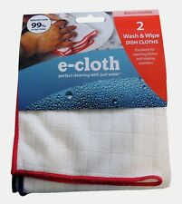 """E-Cloth Wash & Wipe Dish Polyester/Polyamide Cleaning Cloth 12.5"""" x 12.5"""" 2pk"""