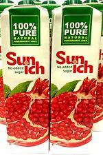 2 x 1 Ltr.  Sunich Granatapfelsaft 100% Fruchtsaft Granatapfel Grenadine Juice