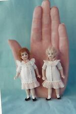 "3""ANTIQUE ALL BISQUE DOLL GIRL/CHILD DRESS/VARIATIONS&UNDERWEAR&SHOES PATTERN"