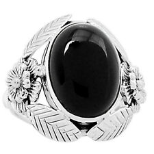 Black Onyx 925 Sterling Silver Ring Jewelry s.8 6521R