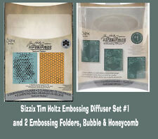 Sizzix Tim Holtz Alterations Faded Textures Embossing Diffuser & Folder Sets LOT