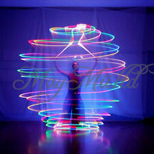 2 Pcs LED POI Thrown Balls For Professional Belly Dance Level Hand Props S