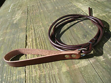SL17 Leather Quick Release Slip Lead Lurcher/Greyhound Lamping/Coursing/Racing