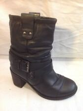 Office London Black Ankle Leather Boots Size 36