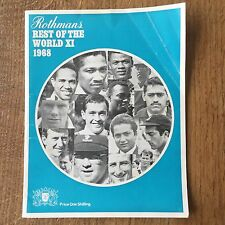 ROTHMANS Rest of the World XI Cricket Book Programme Memorabilia Collectable 60s