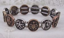 Turtle Starfish Seahorse Stretch Bracelet Silver Gold Copper Fashion Jewelry NEW