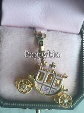 BRAND NEW JUICY COUTURE PRINCESS PINK CARRIAGE BRACELET CHARM IN TAGGED BOX