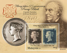 Malaysia 2015 175th Year Anniversary of Penny Black ~ MS Mint