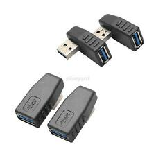 2pcs USB 3.0 A Male to Female Right+Left Angle 90 Degree Connector Adapter Plug