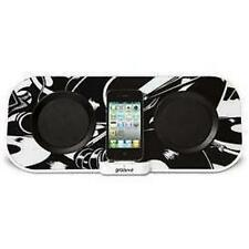 Groov-e GVSP8672 Designer 12w Speaker Dock System iPod iPhone Aux Input - Black