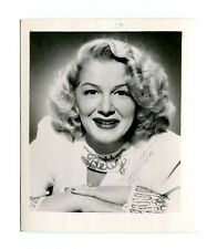 Vintage Movie Star Fan Photo w printed autograph BETTY HUTTON actress