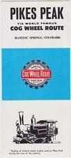 1963 Pikes Peak Cog Wheel Route Brochure