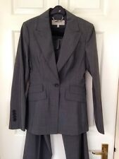 Karen Millen Trouser Suit Size 8 Grey Smart Work Business Occasion Immaculate