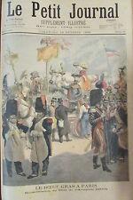 FETE LE BOEUF GRAS A PARIS CHAR D'ARTAGNAN 1844 GRAVURE PETIT JOURNAL 1896